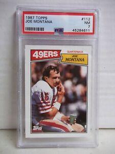 1987 Topps Joe Montana PSA NM 7 Football Card #112 NFL HOF