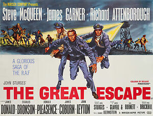 THE GREAT ESCAPE POSTER 1 (SIZES-A5-A4-A3-A2) + SURPRISE A3 POSTER - WAR/MCQUEEN