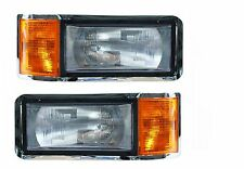 MACK CH SERIES CH600 1990-2006 PAIR SET HEADLIGHTS HEAD LIGHTS FRONT LAMPS