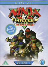 NINJA TURTLES VOLUME 1 - THE NEXT GENERATION - 6 DVD BOX SET  (KIDS CARTOON)