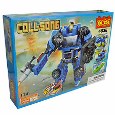 3 IN ONE Jeep Beast Robot Wars Building Blocks Kids toyset BRAND NEW -174 Pieces