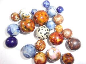 22 Vintage Handmade Bennington Marbles