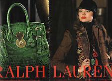 Publicité Advertising 2014  (2 PAGES)  RALPH LAUREN  sac à main collection mode