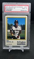 💎 1987 Bellingham Mariners Ken Griffey Jr pre-RC Rookie #15 PSA 9 Mint Hi-End