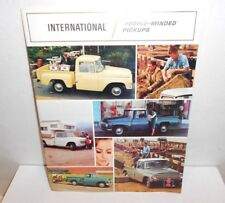 1960s International Light Duty Trucks People-Minded Pickups Sales Brochure