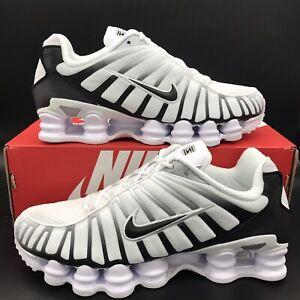 Nike Shox TL White Black Metallic Platinum AV3595-102 Running Shoes Men's Sizes