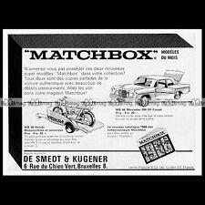 MATCHBOX Lesney MERCEDES 300 SE MB46 HONDA MOTO TRAILER (MB38) 1968 Pub Ad #B451