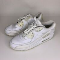 Mens Nike Air Max 90 Triple White Classic Running Training  Shoes Size 9.5 White