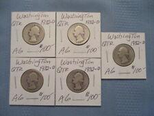 1932-D  Washington quarter lot  of 5   AG