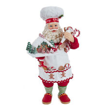 Kurt Adler Fabriché Icing The Gingerbread House Santa FA0128 Christmas Figurine
