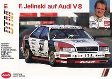 AUDI V8 Limousine DTM Jelinski Prospekt Brochure Sheet Motorsport 1991 49