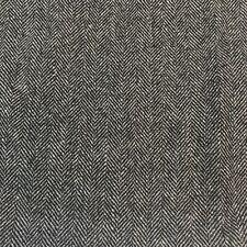 Vintage Wool Fabric Herringbone Upholstery Gray Black Drapes Jacket Suit Dress