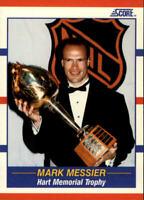 1990-91 Score Oilers Hockey Card #360 Mark Messier Hart Trophy Winner! MVP NM-M