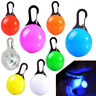 LED Dog Tag Collar Light Up Pet Puppy Flashing See Dark Disc Night Safety Charm