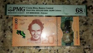 Banco Central Costa Rica 20000 Colones (2018) PMG 68 GEM UNC