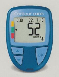 Nuovo: Contour Care Misuratore Glicemia Mmol / L/L Plus Strisce Reattive Nuovo +