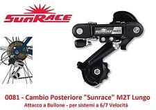 Cambio Posteriore Sunrace M2T 6/7 Veloc. a Bullone per Bici 20-24-26 Pieghevole