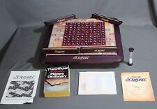 100% Complete - SCRABBLE Deluxe Edition Crossword Game with Turntable Board