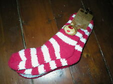BRAND NEW 3 PACK CHRISTMAS LADIES COSY SOCKS RED, WHITE AND RED AND WHITE STRIPE