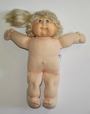 Cabbage Patch Kid Girl Doll Coleco Vintage 1987 Blonde Hair Ponytail Blue Eyes