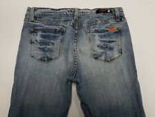 Women's Vigoss Jeans Tag Size 9 / 10 Vintage Distressed Low Rise Bootcut Flare