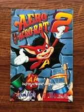Aero The Acro Bat 2 Acrobat II SNES Super Nintendo Instruction Manual Only