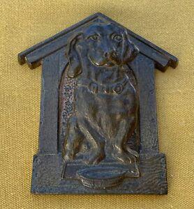 Antique Judd cast iron Dachshund wall paper clip