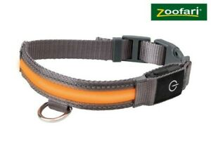 Zoofari Flashing LED Dog Collar Size Medium M 47-55m light up USB rechargeable