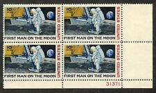 US C76 - Moon Landing 10 Cent Stamp - Plate # Block of 4 - MNH - VF