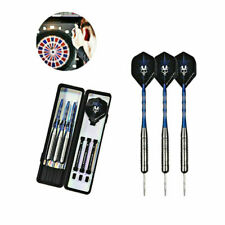 3Pcs Professional 28g Steel Tip Dart Set Tungsten Barrel Aluminium Shafts Darts