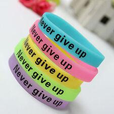 1Pc Glow In Dark Silicone Rubber Elasticity Sport Wristband Cuff Bracelet Bangle