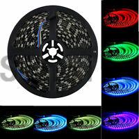 Sinollc RGB 5M 16.4FT 5050 SMD 300 LEDs Strip Light/ Black PCB /IP65 Waterproof