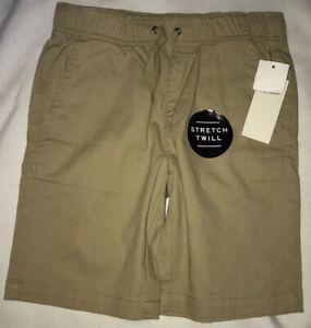p.s.aeropostale Boys Khaki Shorts Size 7 New Uniform Stretch Twill