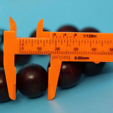 1Pc Mini Plastic Ruler Sliding 80mm Vernier Caliper Gauge Measure Tool