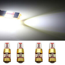 4Pcs T10 3014 27SMD White LED Wedge Parking Signal Lights W5W Side Tail 12-14V