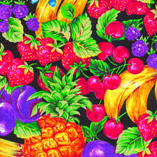 DELICIOUS Fruit FABRIC LINED Material 1ydx44