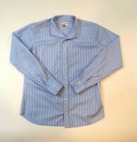 The Tailored Sportsman Equestrian Show Shirt Womens Size 6 Blue Striped Top