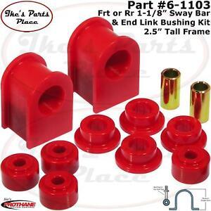 "Prothane 6-1103 Frt or Rr 2.5""H 1-1/8"" Sway Bar&End Link Bushing Kit 75-98 Ford"