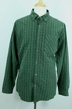 EXOFFICIO Plaid Field Shirt Men's Large Modal Blend Outdoors Button Front