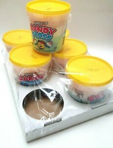Candy Floss Tubs Ready Made Cinema Snack Kids Party Sweet Soft Chewy 6pcs 50g