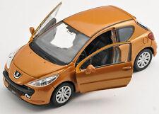 BLITZ VERSAND Peugeot 207 orange Welly Modell Auto 1:34 NEU & OVP