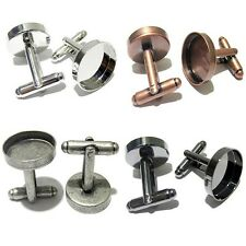 10pcs/Lot 16 18 20 mm Vintage Round Blank Cuff Links Base Pad DIY Craft Findings