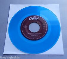 The Beatles - The Long And Winding Road USA 1987 Capitol Blue Vinyl Jukebox 7""