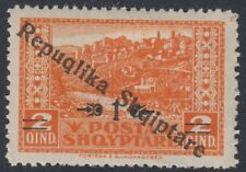 "ALBANIA : 1925 1 on 2q orange ""Repuqlika  for 'Republica' opt  SG178d mint"