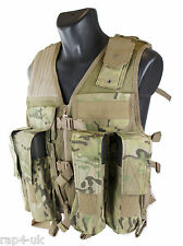 Tactical Military Vest Adapted for Paintball Airsoft ECD (like MULTICAM) [DN2]