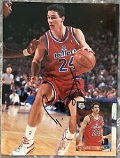 APRIL 1993 Beckett Basketball Magazine TOM GUGLIOTTA & SEAN ELLIOTT Autographed