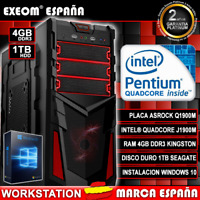 Ordenador De Sobremesa Pc Gaming Intel Quad Core 9.6GHZ 4GB 1TB HDMI Windows