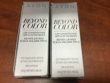 2 AVON Beyond Color Lip Conditioner SPF15 octinoxate stick Brand New Box