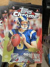 2010 Topps Chrome Football Hobby Box AUTO Gronkowski Gronk Tebow Dez Thomas RC