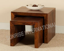 Sheesham Wood Nesting table / stool (set of 2)